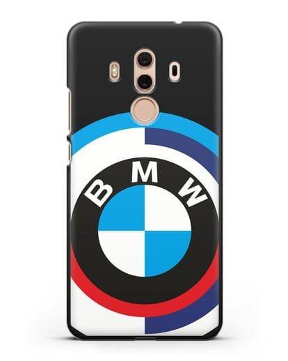 Чехол с логотипом BMW силикон черный для Huawei Mate 10 Pro