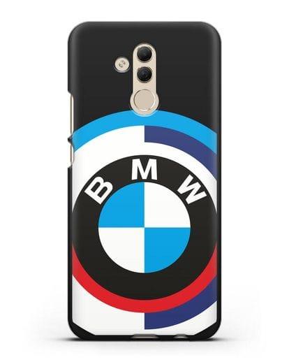 Чехол с логотипом BMW силикон черный для Huawei Mate 20 Lite