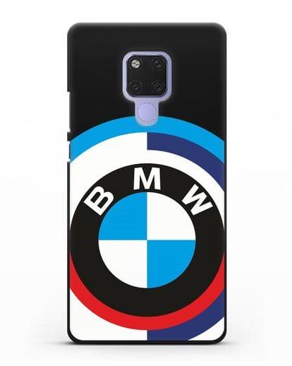 Чехол с логотипом BMW силикон черный для Huawei Mate 20X