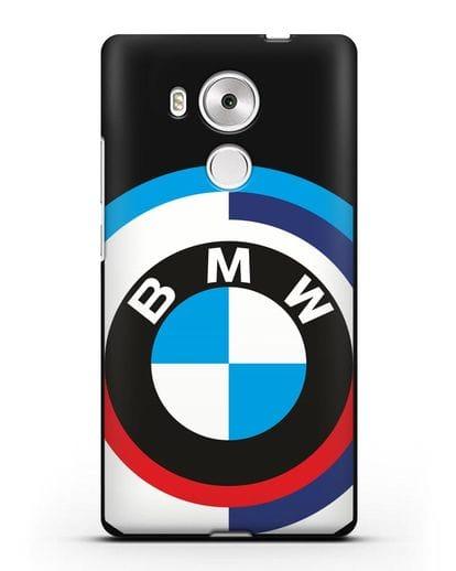 Чехол с логотипом BMW силикон черный для Huawei Mate 8