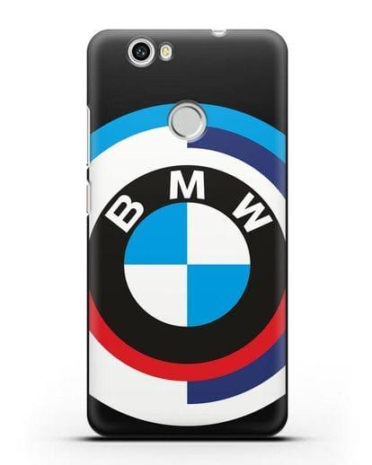 Чехол с логотипом BMW силикон черный для Huawei Nova