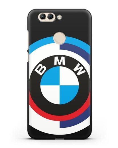 Чехол с логотипом BMW силикон черный для Huawei Nova 2 Plus