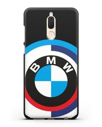 Чехол с логотипом BMW силикон черный для Huawei Nova 2