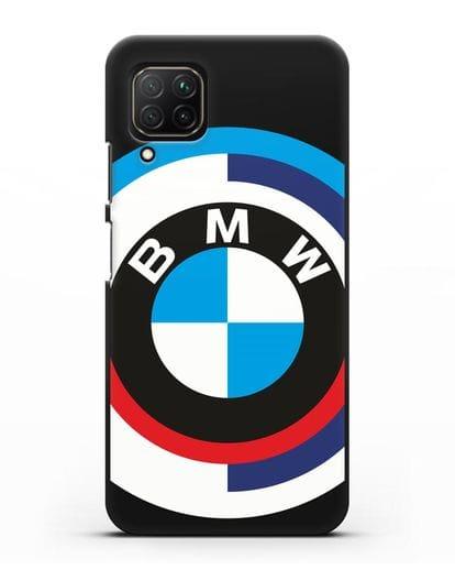 Чехол с логотипом BMW силикон черный для Huawei Nova 7i