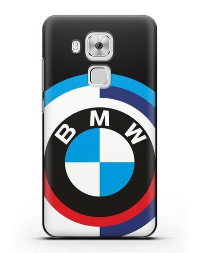 Чехол с логотипом BMW силикон черный для Huawei Nova Plus