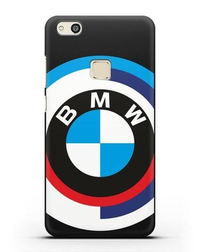 Чехол с логотипом BMW силикон черный для Huawei P10 Lite