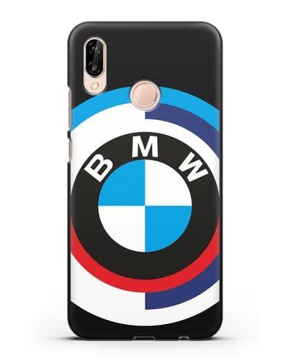 Чехол с логотипом BMW силикон черный для Huawei P20 Lite