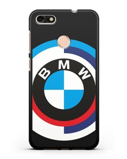 Чехол с логотипом BMW силикон черный для Huawei P9 Lite mini