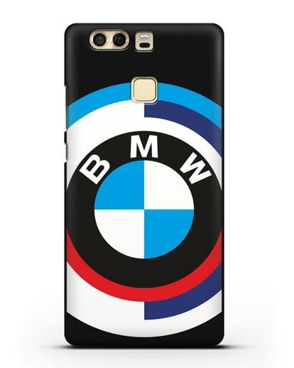 Чехол с логотипом BMW силикон черный для Huawei P9 Plus