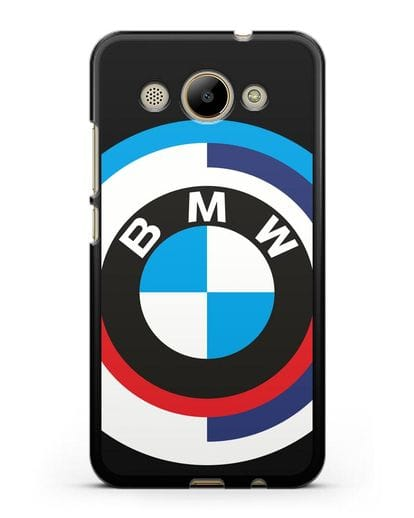 Чехол с логотипом BMW силикон черный для Huawei Y3 2017
