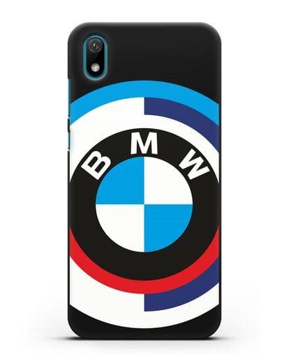 Чехол с логотипом BMW силикон черный для Huawei Y5 2019