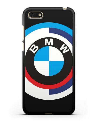 Чехол с логотипом BMW силикон черный для Huawei Y5 Prime 2018