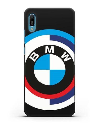 Чехол с логотипом BMW силикон черный для Huawei Y6 2019