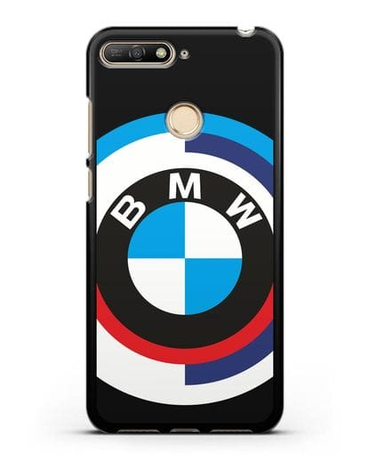 Чехол с логотипом BMW силикон черный для Huawei Y6 Prime 2018
