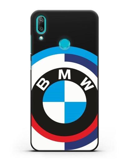 Чехол с логотипом BMW силикон черный для Huawei Y7 2019