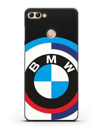 Чехол с логотипом BMW силикон черный для Huawei Y9 2018