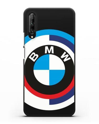 Чехол с логотипом BMW силикон черный для Huawei Y9s