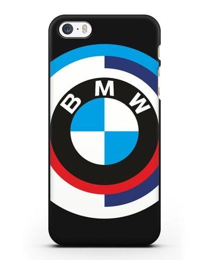 Чехол с логотипом BMW силикон черный для iPhone 5/5s/SE