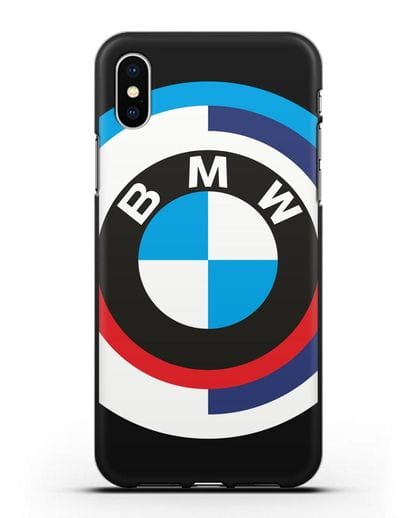 Чехол с логотипом BMW силикон черный для iPhone XS