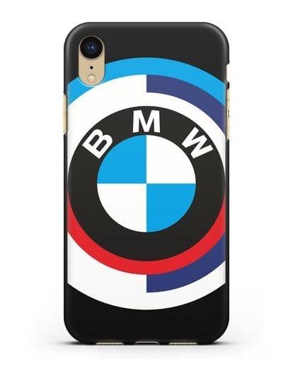 Чехол с логотипом BMW силикон черный для iPhone XR
