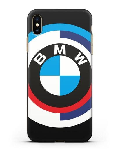 Чехол с логотипом BMW силикон черный для iPhone XS Max