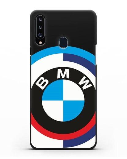 Чехол с логотипом BMW силикон черный для Samsung Galaxy A20s [SM-A207FN]