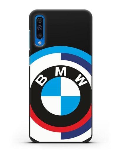 Чехол с логотипом BMW силикон черный для Samsung Galaxy A50 [SM-A505F]