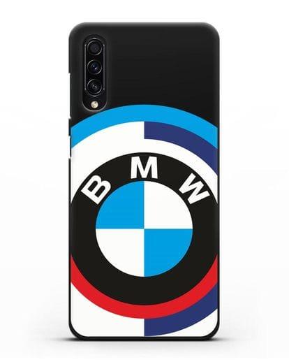 Чехол с логотипом BMW силикон черный для Samsung Galaxy A50s [SM-F507FN]
