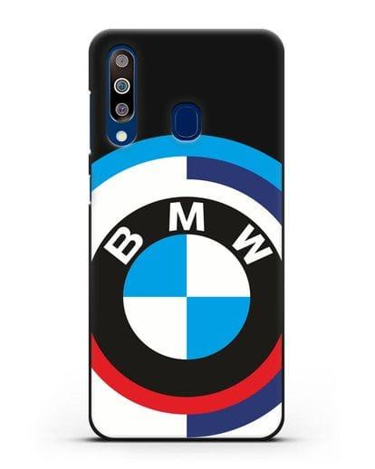 Чехол с логотипом BMW силикон черный для Samsung Galaxy A60 [SM-A606F]