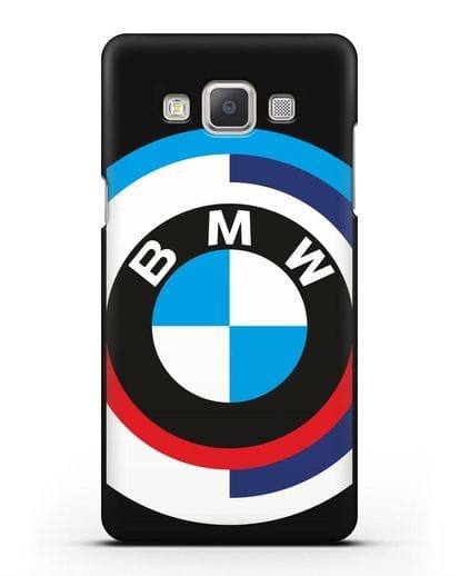 Чехол с логотипом BMW силикон черный для Samsung Galaxy A7 2015 [SM-A700F]