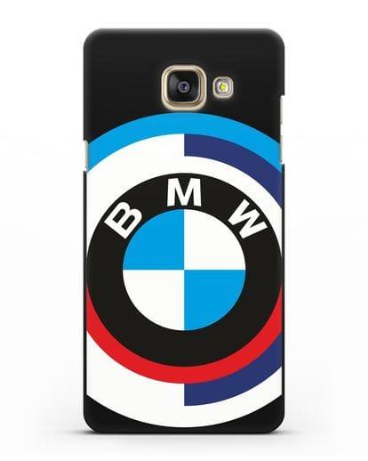 Чехол с логотипом BMW силикон черный для Samsung Galaxy A7 2016 [SM-A710F]