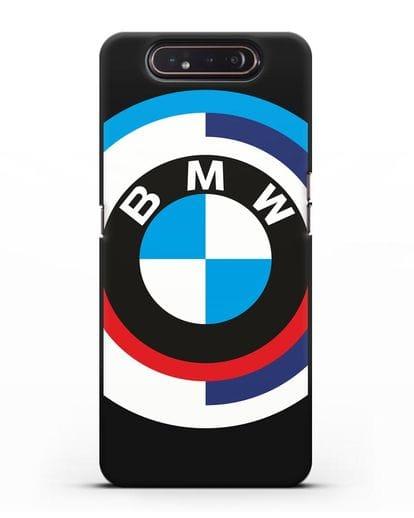 Чехол с логотипом BMW силикон черный для Samsung Galaxy A80 [SM-A805F]