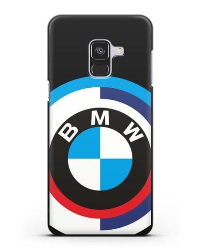 Чехол с логотипом BMW силикон черный для Samsung Galaxy A8 Plus [SM-A730F]