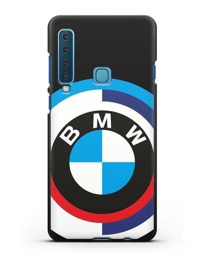 Чехол с логотипом BMW силикон черный для Samsung Galaxy A9 (2018) [SM-A920]