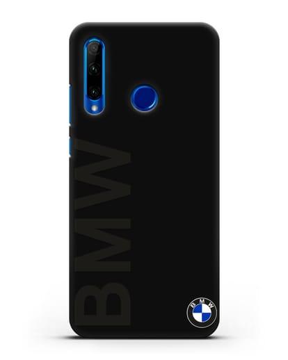 Чехол с надписью BMW и логотипом силикон черный для Honor 10i