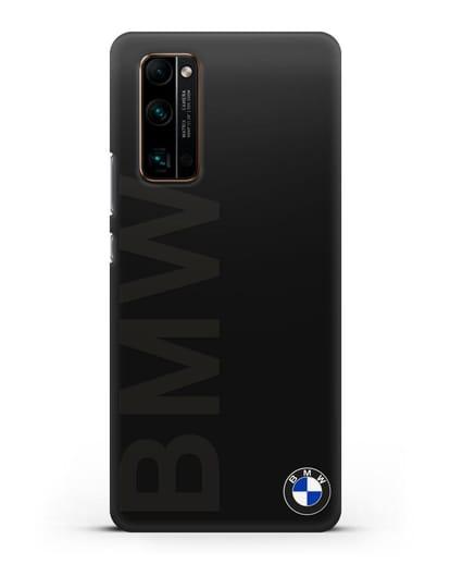 Чехол с надписью BMW и логотипом силикон черный для Honor 30 Pro Plus