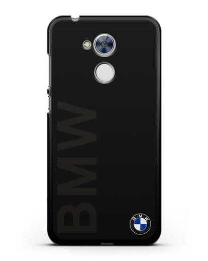 Чехол с надписью BMW и логотипом силикон черный для Honor 6A