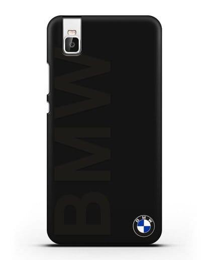Чехол с надписью BMW и логотипом силикон черный для Honor 7i
