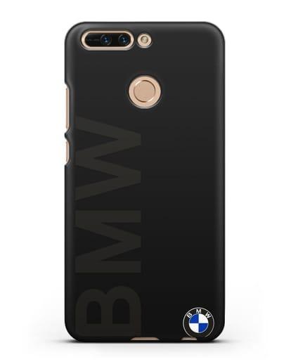 Чехол с надписью BMW и логотипом силикон черный для Honor 8 Pro