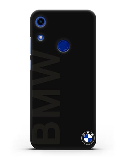 Чехол с надписью BMW и логотипом силикон черный для Honor 8A