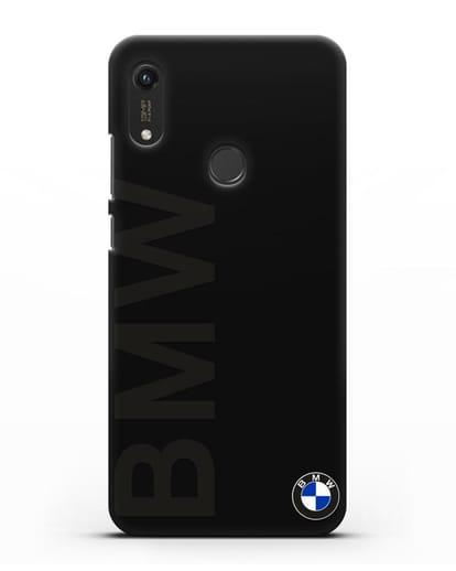Чехол с надписью BMW и логотипом силикон черный для Honor 8A Prime