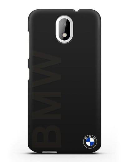 Чехол с надписью BMW и логотипом силикон черный для HTC Desire 326