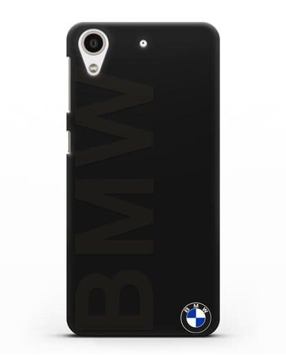 Чехол с надписью BMW и логотипом силикон черный для HTC Desire 626