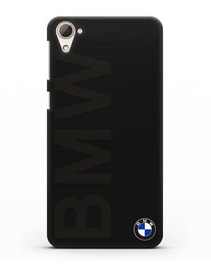 Чехол с надписью BMW и логотипом силикон черный для HTC Desire 826