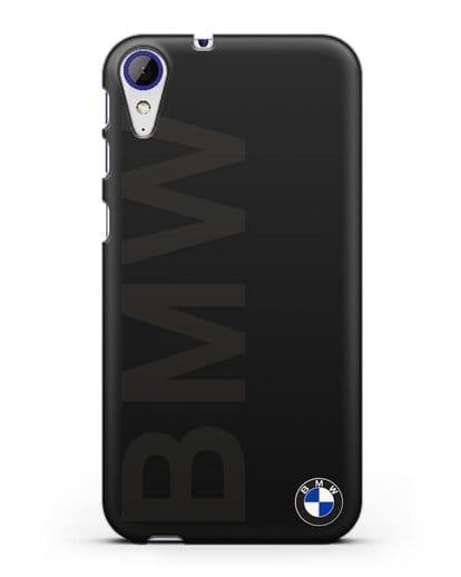 Чехол с надписью BMW и логотипом силикон черный для HTC Desire 830