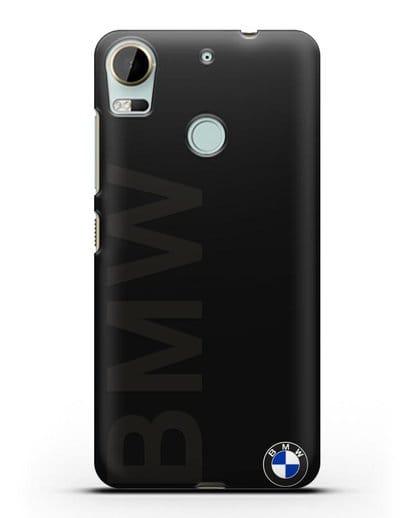 Чехол с надписью BMW и логотипом силикон черный для HTC Desire 10 Pro