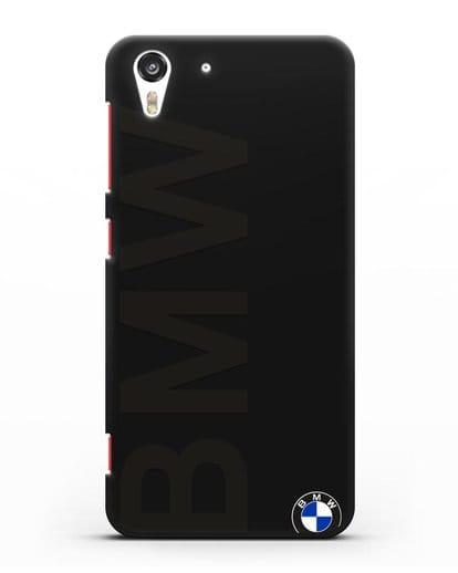 Чехол с надписью BMW и логотипом силикон черный для HTC Desire Eye
