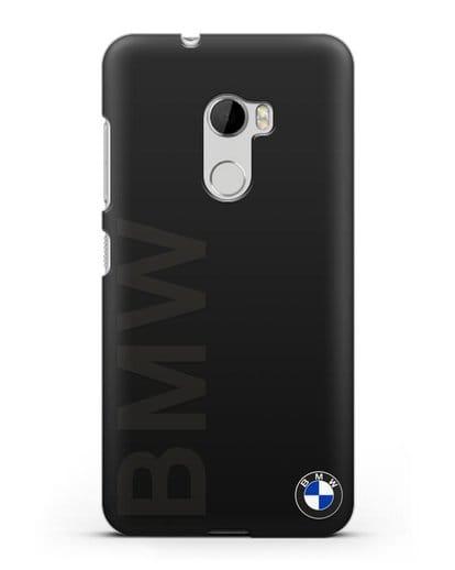 Чехол с надписью BMW и логотипом силикон черный для HTC One X10