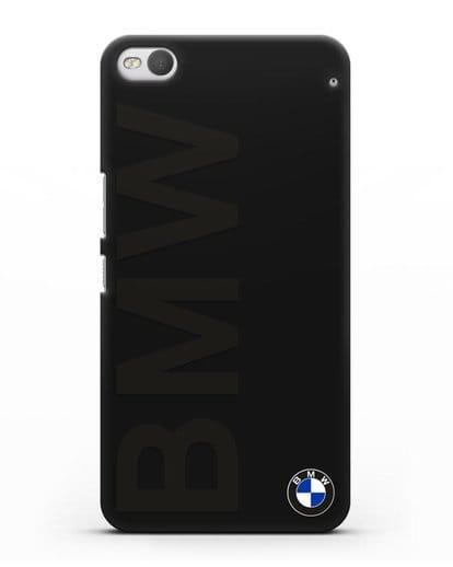 Чехол с надписью BMW и логотипом силикон черный для HTC One X9