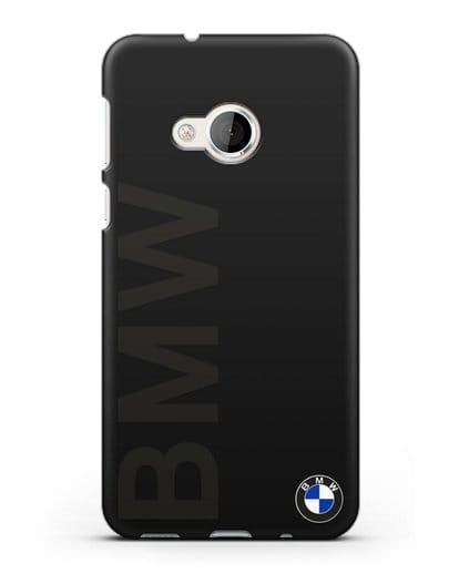 Чехол с надписью BMW и логотипом силикон черный для HTC U Play